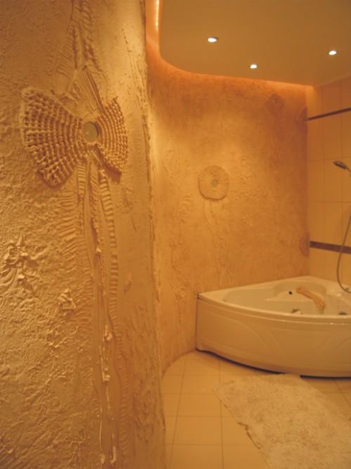 Ванная комната своими руками декоративная штукатурка
